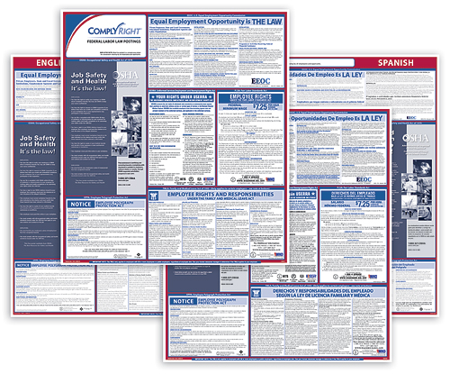 Federal Labor Law Compliance Poster - BILINGUAL