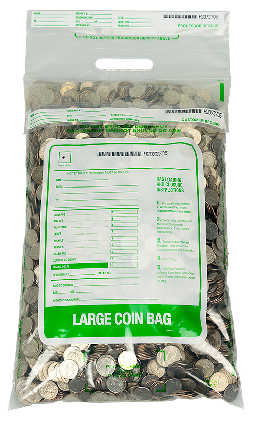 STAT 12 x 22 Large Single Handle Coin Bag