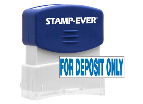 FOR DEPOSIT ONLY Stock Title Stamp