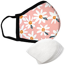 Daisy Flowers - Large Face Mask with Filters