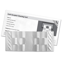 Cash Acceptor Waffle Technology Cleaning Card